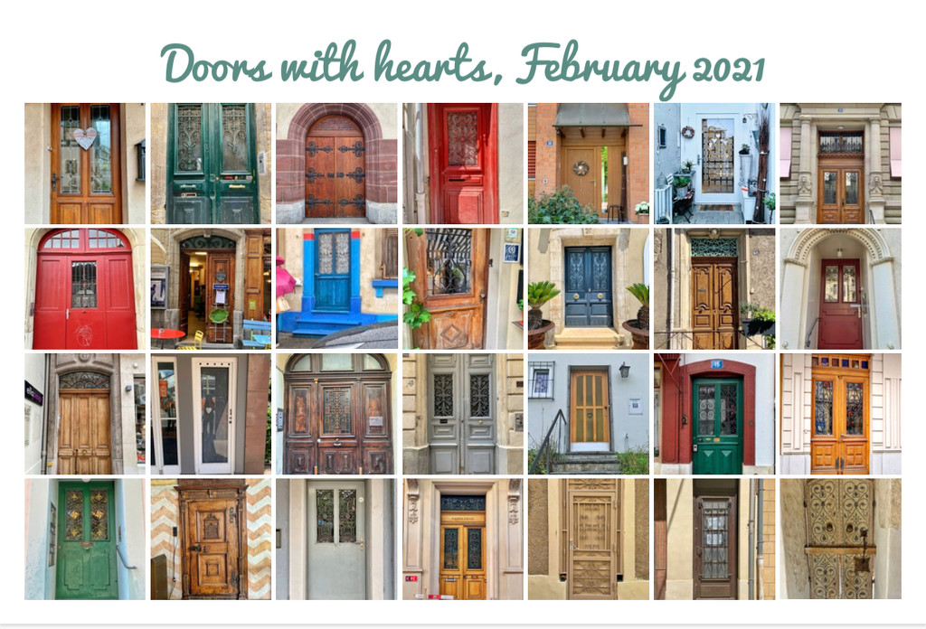Doors with hearts.  by cocobella