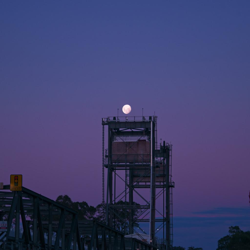 Moon over a bridge. by fr1da