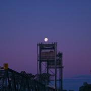 25th Feb 2021 - Moon over a bridge.