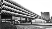 27th Feb 2021 - Preston bus station and the covid vaccination reception tent. I'm not so keen on the building but it is now listed!
