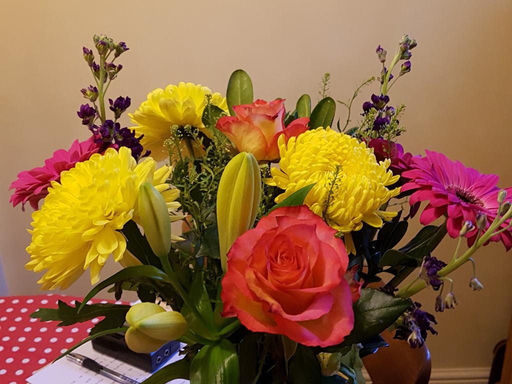 Beautiful birthday flowers  by rosiekind