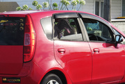 1st Mar 2021 - dog in a red car