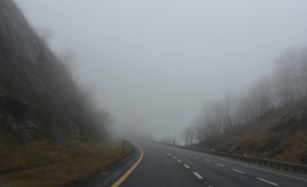 Foggy mountain by homeschoolmom