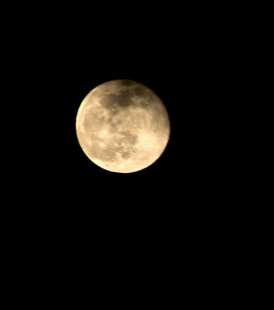 Moon Edited To Be Yellow... by bjywamer