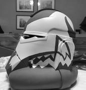 20th Feb 2021 - B&W Helmet