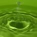 Green stalagmite