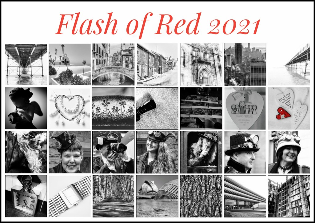 My Flash of Red month - one of my favourite challenges! by lyndamcg