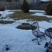 Snow melt in the backyard