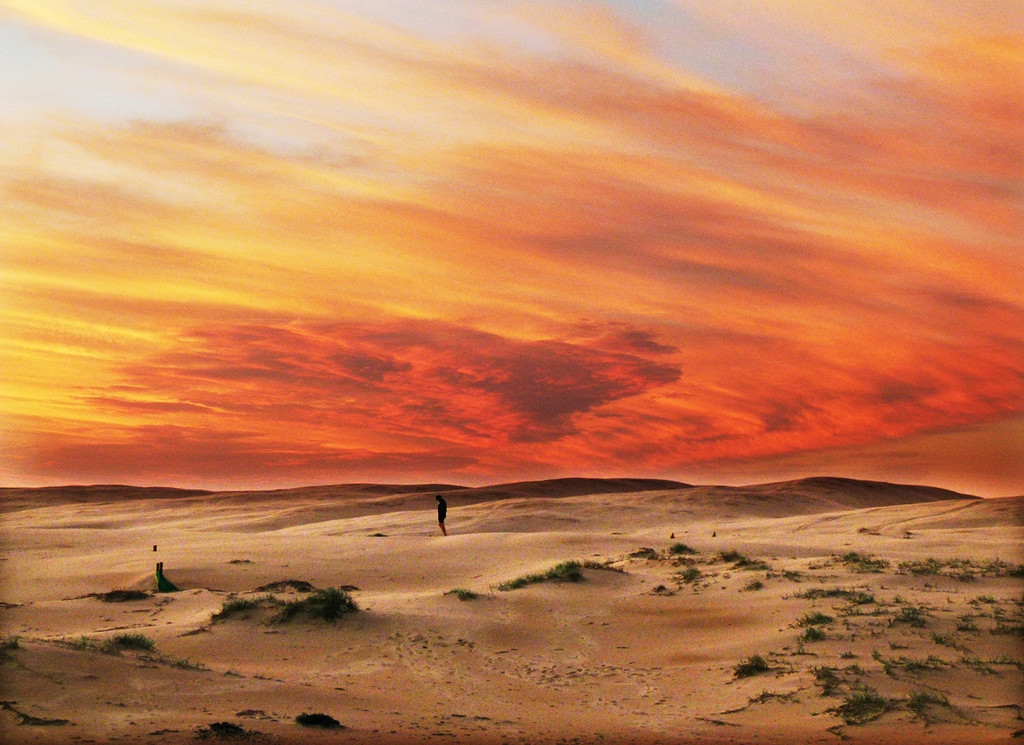 Sunset on the Dunes by onewing