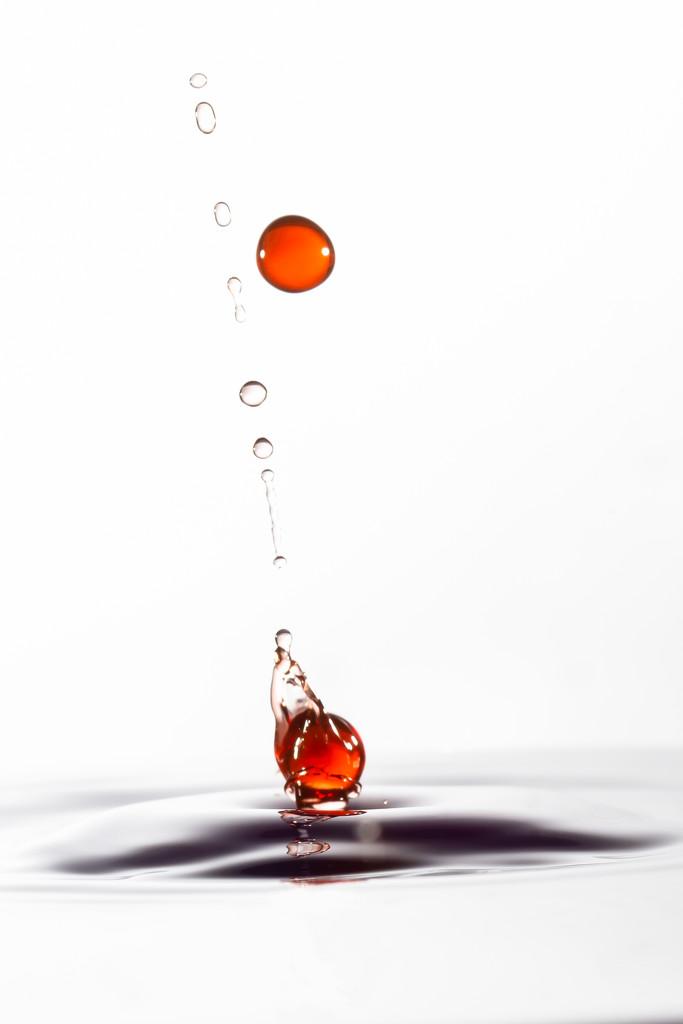 Orange droplets by pamknowler