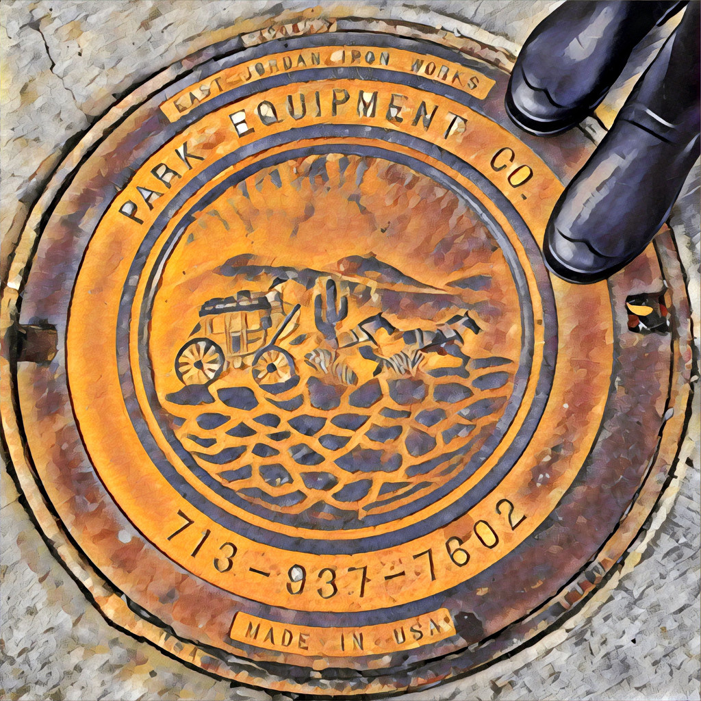 A Texas manhole cover by louannwarren