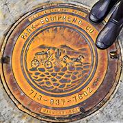 2nd Mar 2021 - A Texas manhole cover