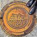 A Texas manhole cover