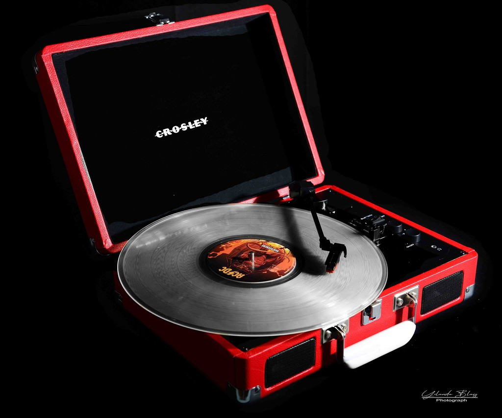Red record player ( Rainbow Month) by yolanda