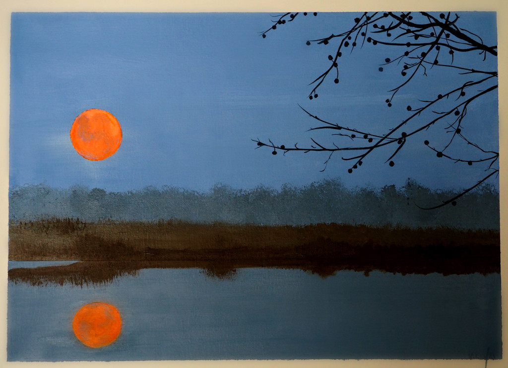 leslie's moon, katy's branches, my painting by summerfield