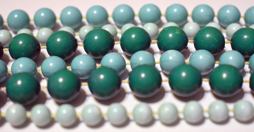 Green beads by homeschoolmom