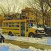 Yellow Bus a la Van Gogh
