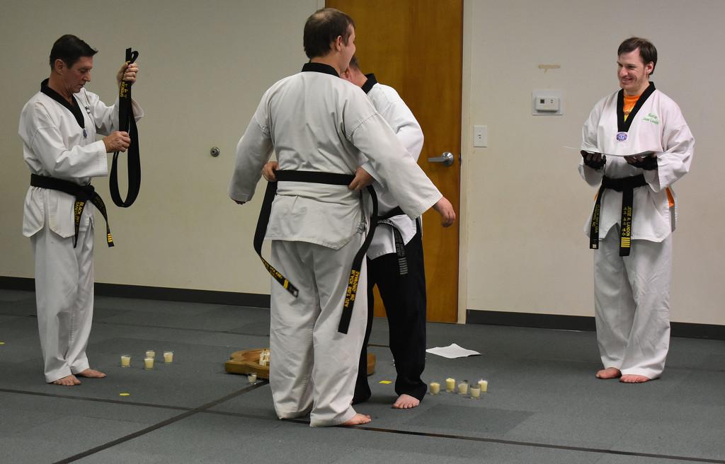 Tying of the belt by homeschoolmom