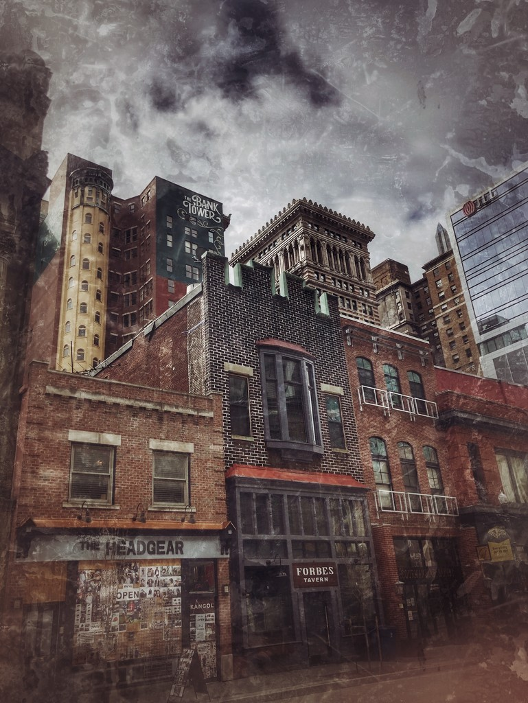Old Buildings in Downtown Pittsburgh by not_left_handed