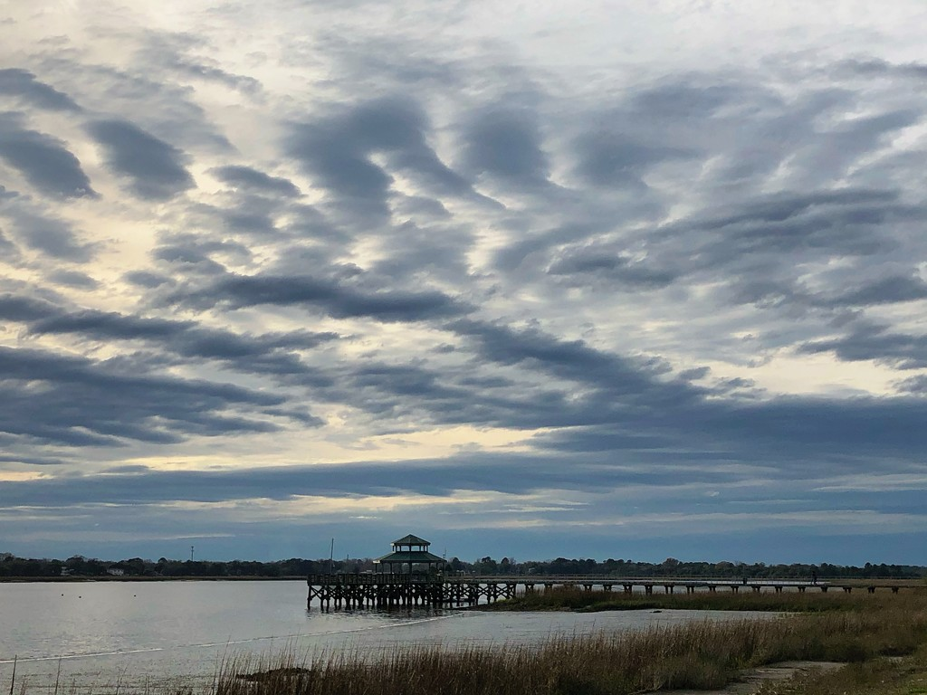 Clouds and sky over the Ashley River by congaree