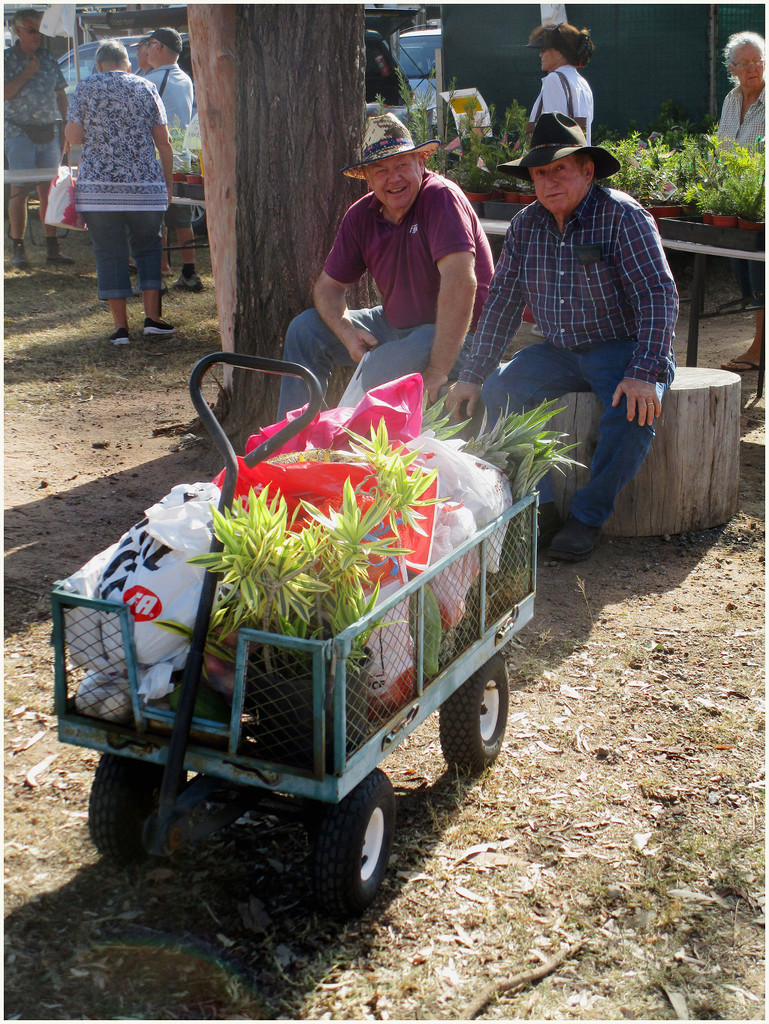 2 mans at the Nanango country market by kerenmcsweeney