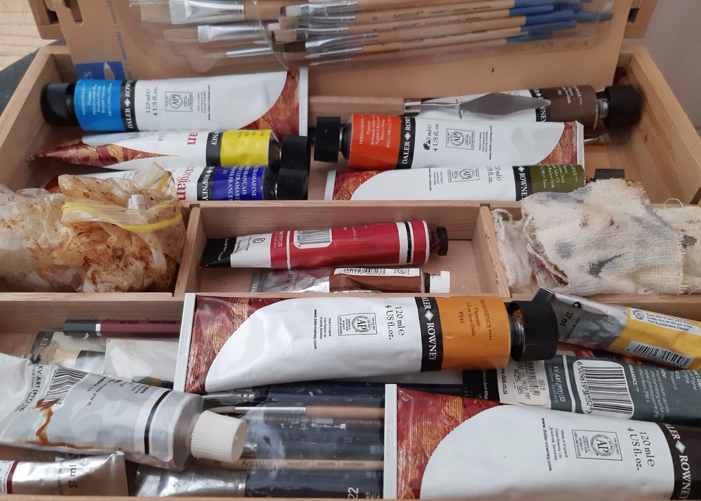 The makings for an oil painting  by salza