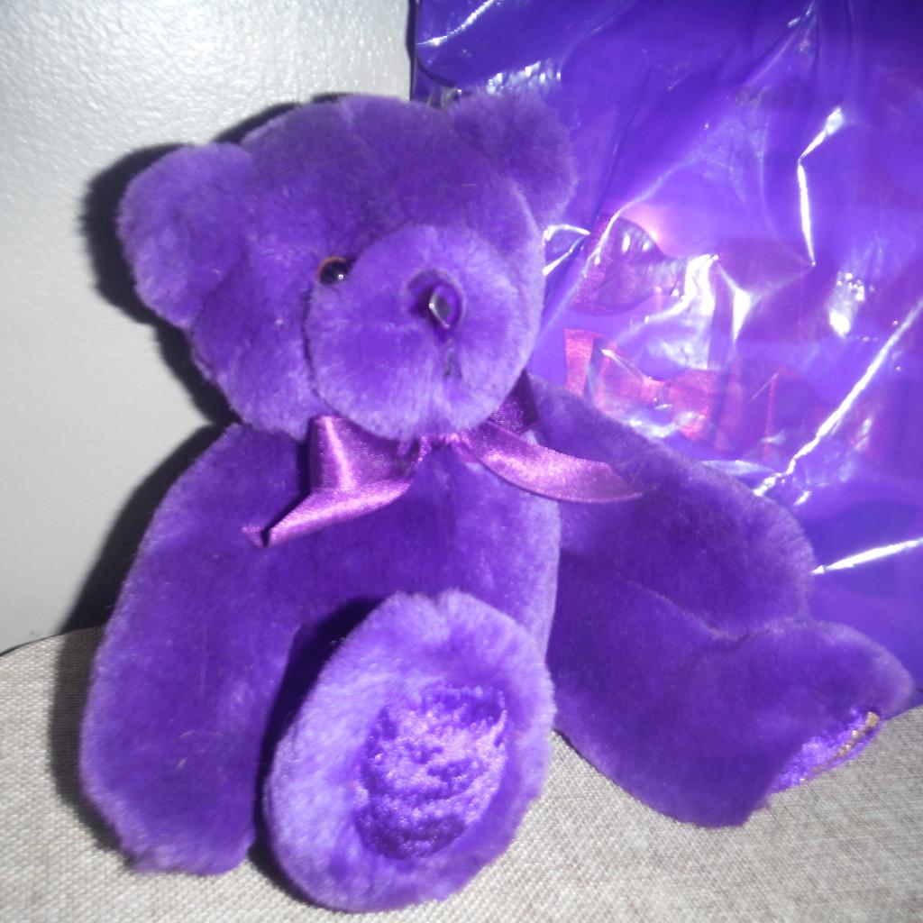 Purple Bear by spanishliz