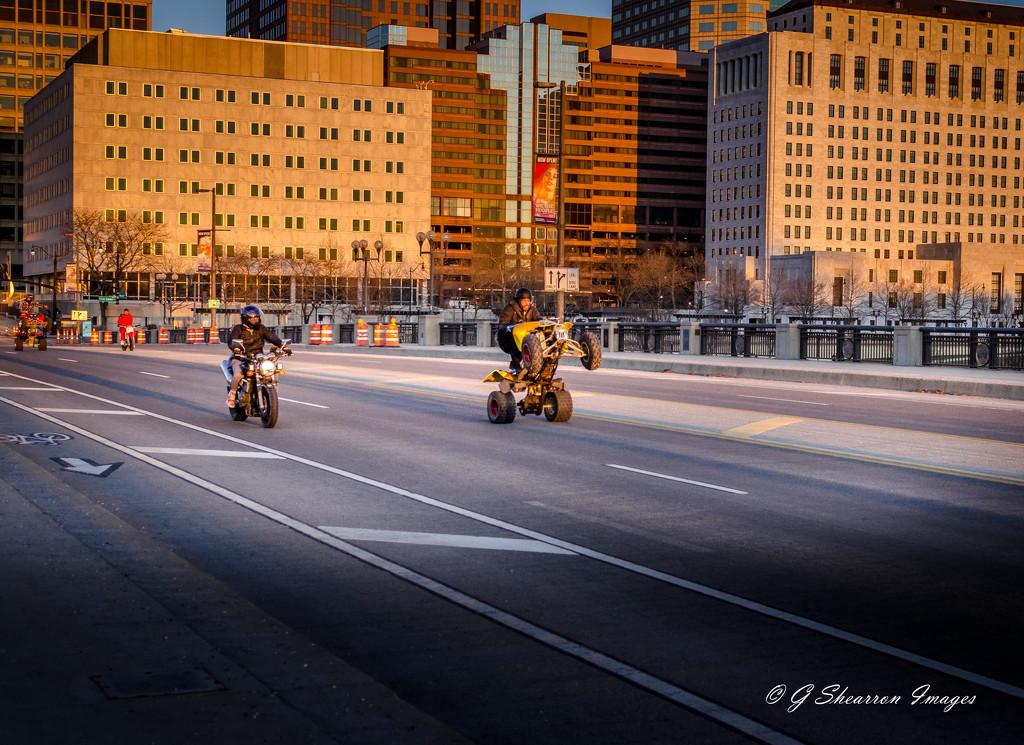 4-Wheeling Show-Off Crosses Bridge by ggshearron