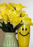 10th Mar 2021 - Yellow Smiley Cup and flowers