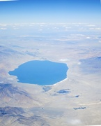 12th Mar 2021 - The lake with no name, from 35,000 feet*****update, it is Nevada's Walker Lake