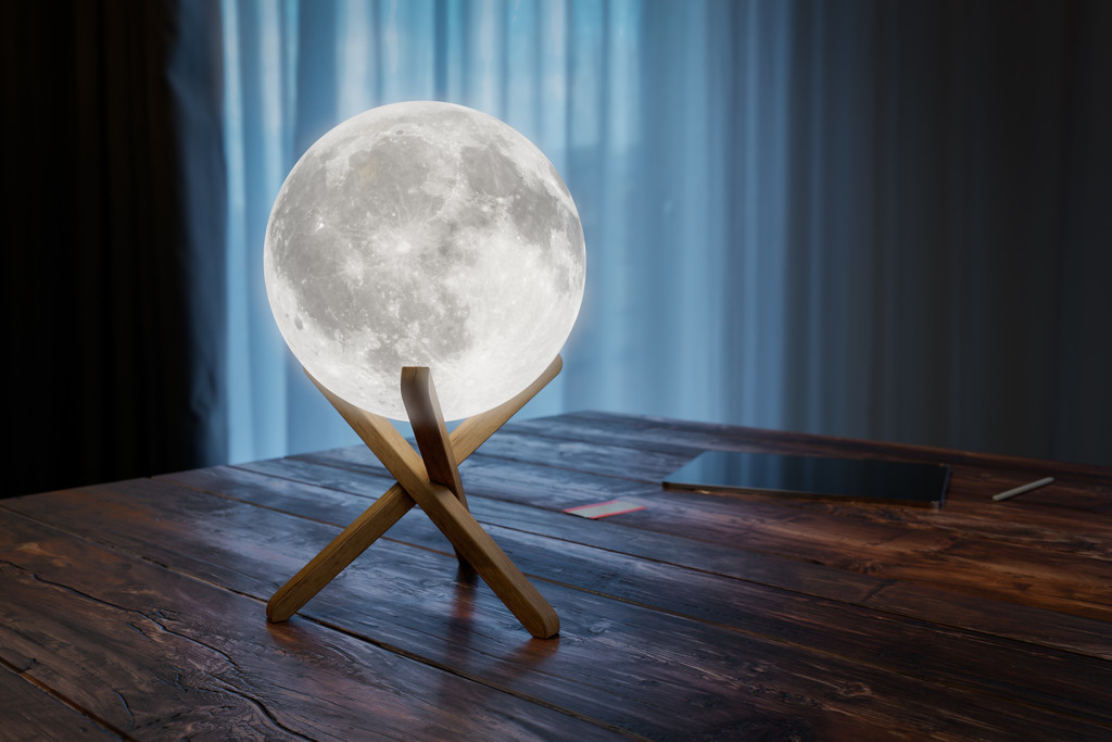 Moon Lamp by humphreyhippo