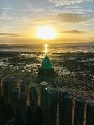 15th Mar 2021 - Washed up buoy & Sunset.