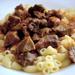 Pork stew with pasta
