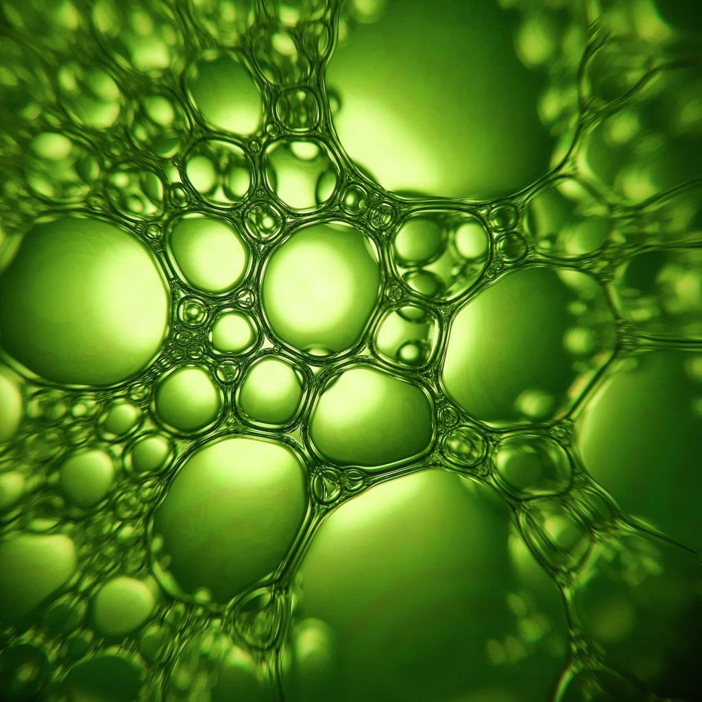 Green bubbles by m2016