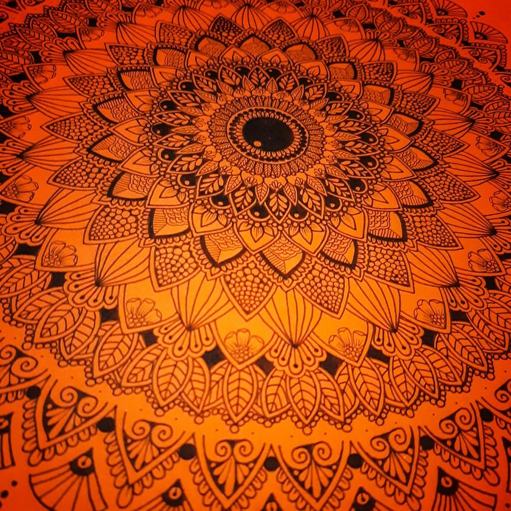 Orange mandala by m2016