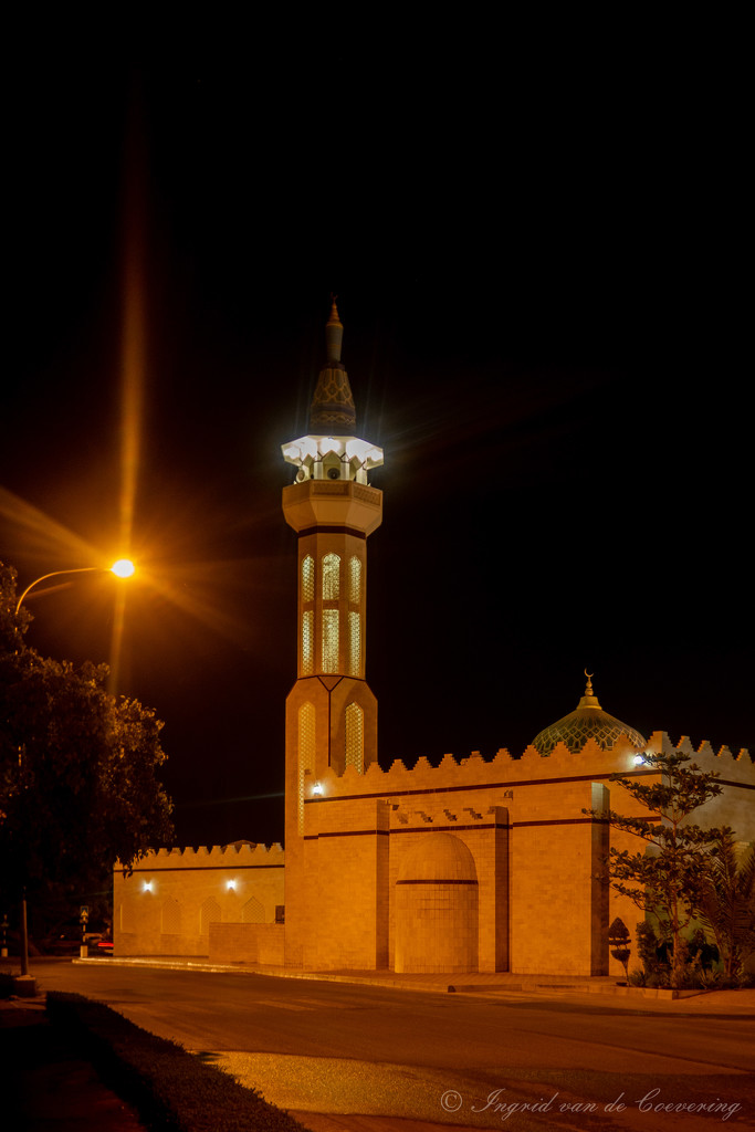 Little mosque at night by ingrid01