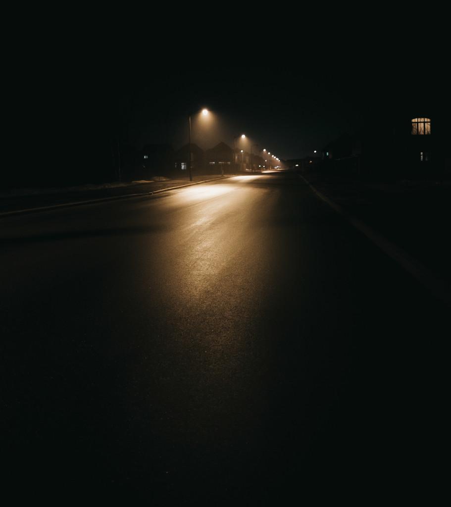 rainy and foggy night by adi314