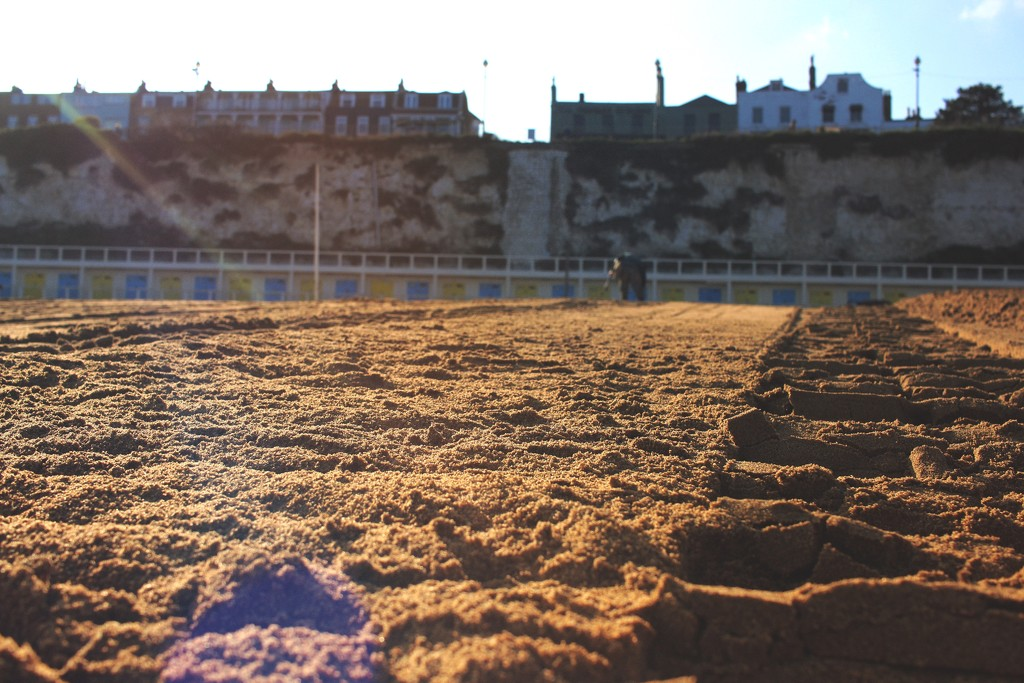 Tracking The Beach Huts  by spuddy