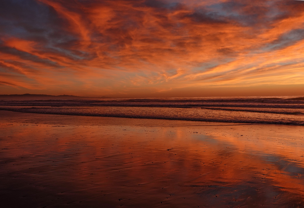 Sunrise Waikuku Beach NZ by maureenpp