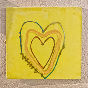 30th Mar 2021 - Yellow heart.