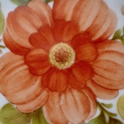 30th Mar 2021 - Plate with orange flower
