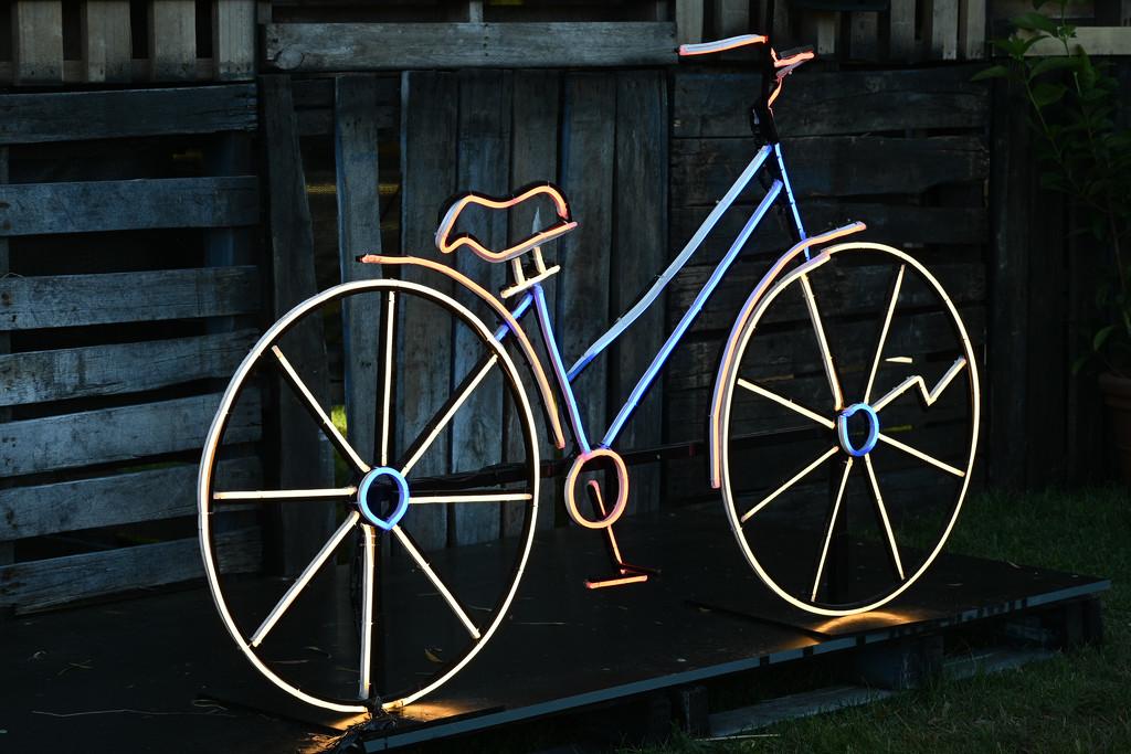Neon Light Bike by crystal_bubbles