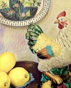 31st Mar 2021 - A chicken and lemons for the last rainbow image this month