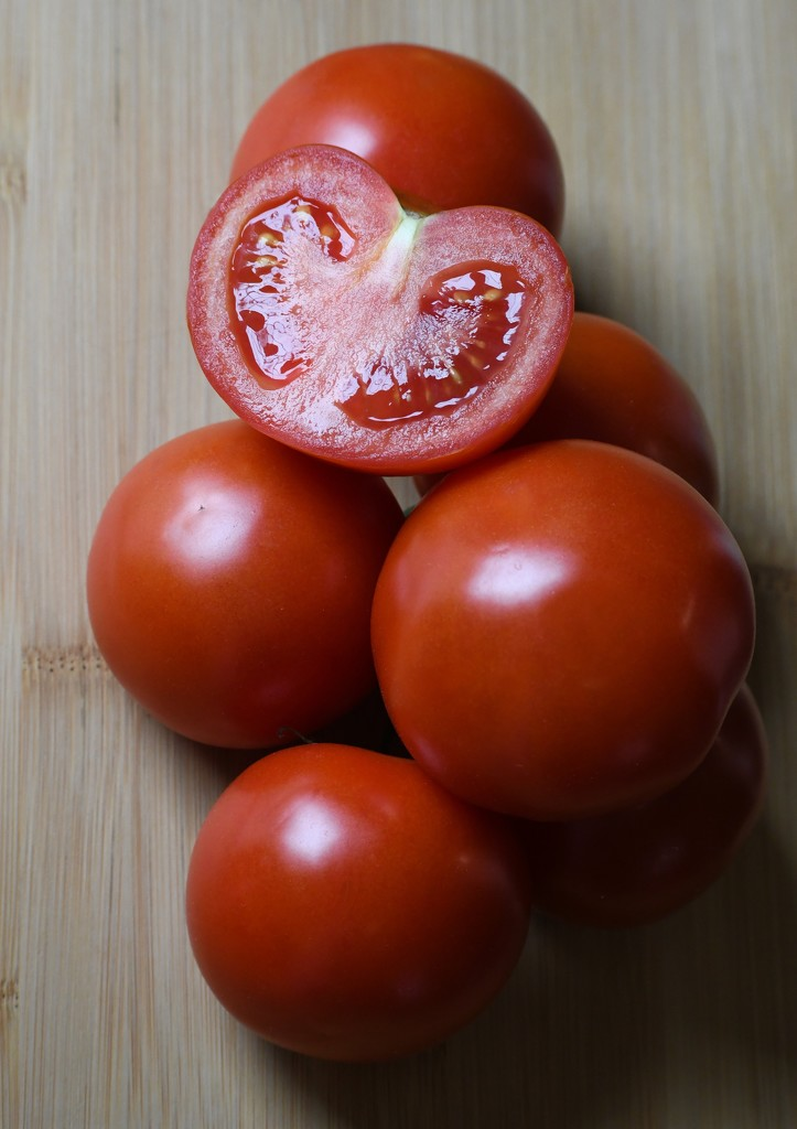 Tomatoes From The Garden by paintdipper