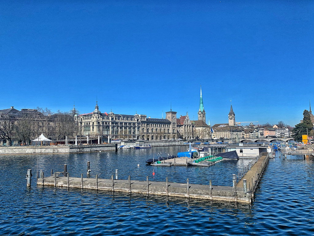Zurich in blue.  by cocobella