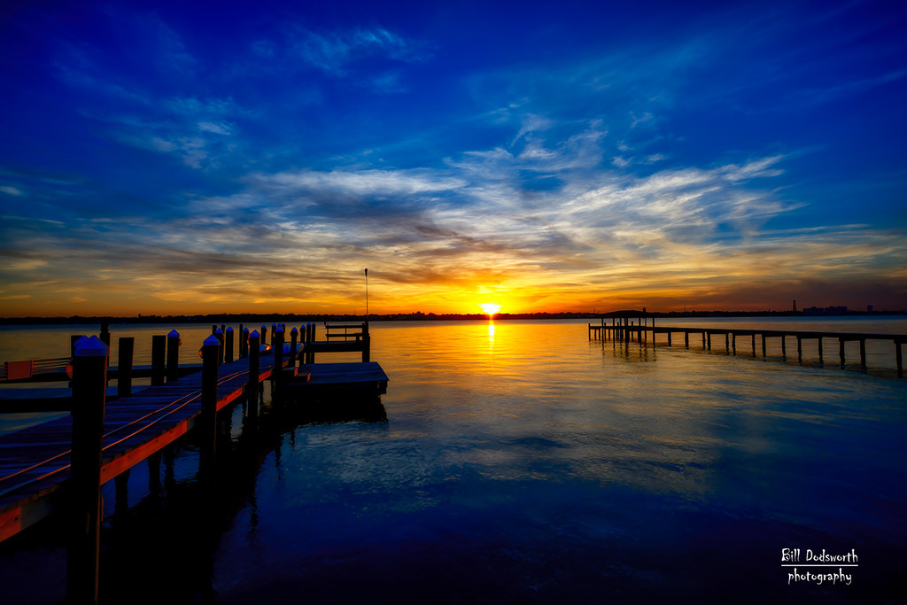 The setting sun on the Indian River by photographycrazy