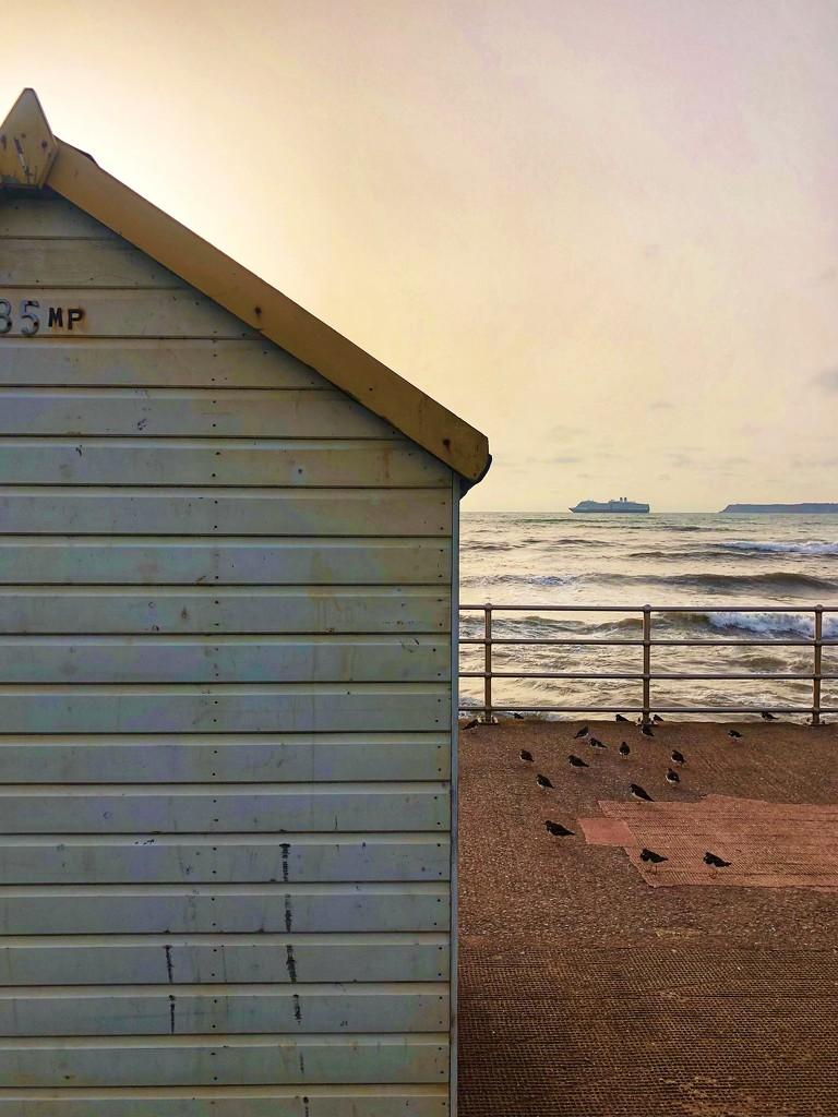 Morning Beach Hut by cookingkaren