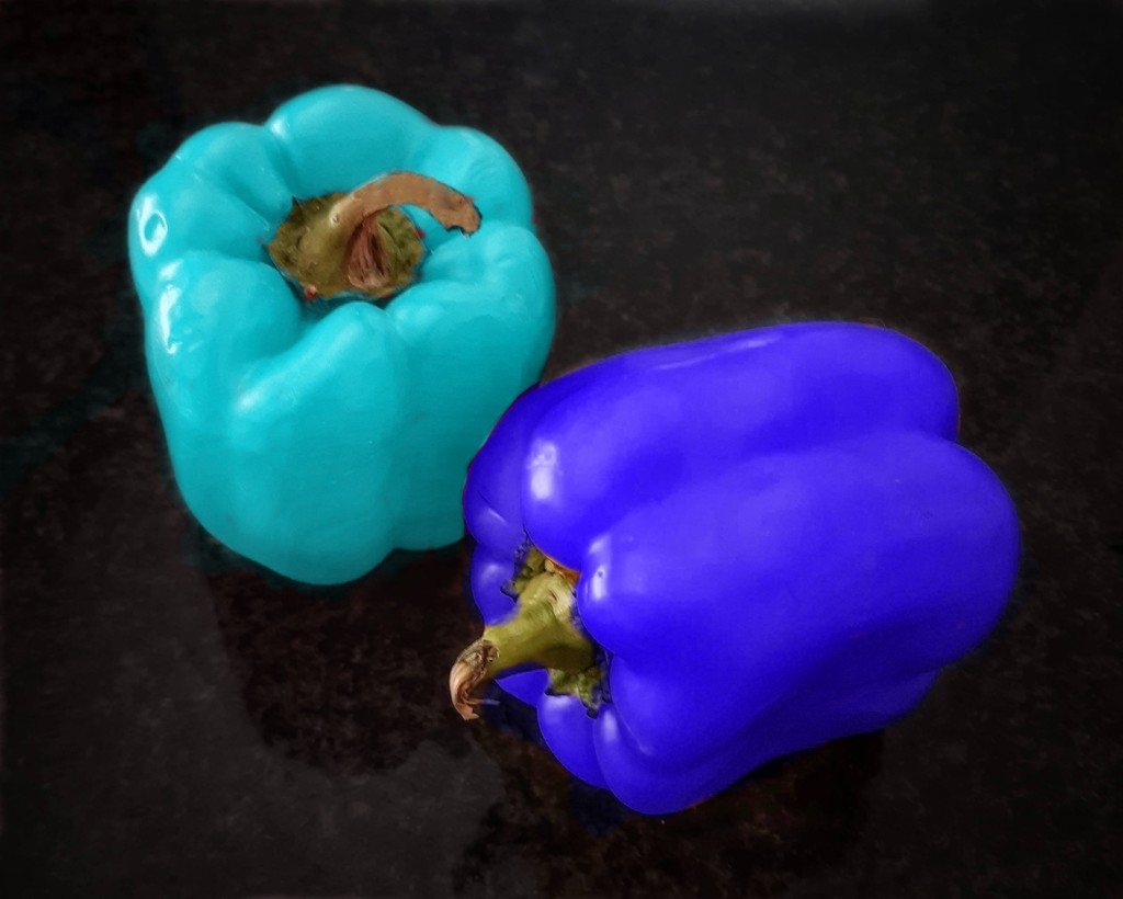 Blue Peppers by salza
