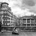 Yoga in Paris b&w