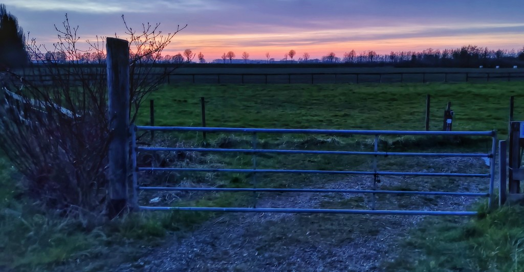 Sunset in the country by geertje